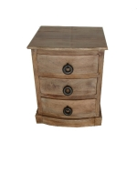 TMG 2524 3 draw bedside table