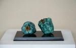 JAR 94-19 11x27x18cm, green pepper on stone base, bronze, 2018 Dhs17000