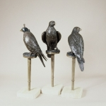 Hunting Bird-Aggressive, Hooded & Passive Ed.of 9 H-74Cms Dhs25,000 each  .jpg