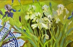 LJV 3-14 Iris blue Oil on canvas 57x83cms Dhs.10,000