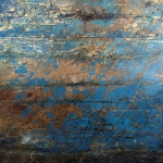 LTK 65-15 Aquafer 4 Gold Leaf and oil on Canvas 40 x 40 Dhs 6000