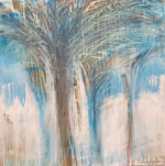 LTK 72-15 Palm 1 100x100Cms Mixed Media on canvas Dhs15000