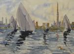 1508 Al Gaffal Boat Race Dubai 52 x 72 Dhs12000