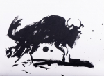 SW 43-19 Wildbeast Indian ink study 3 Chinese ink on paper  31x23C#250
