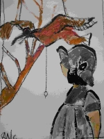 swc-3-12-japanese-girl-looking-at-the-bird-33x50cm-dhs-900