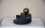 JAR 92-19 16x18x18cm, golden apple, bronze on black stone base2, 2018  Dhs 7000