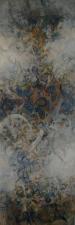 incense , acrylic on canvas 2013 , 35 x 120 cms