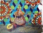 LJV 16-14 Tea & Peaches Pastel & acrylic on cotton paper 43x44Cms Dhs.4,500