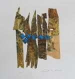 LTK 59-15 Strata 6 Mixed Media & gold leaf On Paper 30x42Cms Dhs3500
